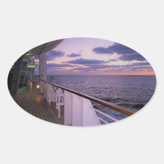 Matin à bord sticker ovale