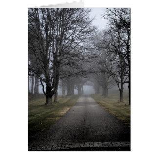 Matin brumeux au Maine Carte De Vœux