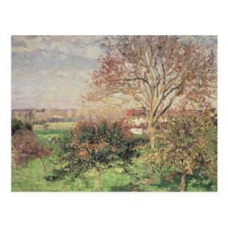 Matin d'automne chez Eragny, 1897 Carte Postale