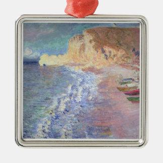 Matin de Claude Monet | chez Etretat Ornement Carré Argenté