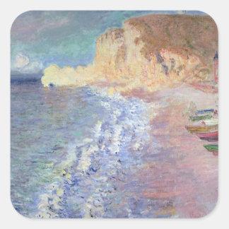 Matin de Claude Monet | chez Etretat Sticker Carré