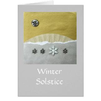 Matin de solstice d'hiver - collage cartes