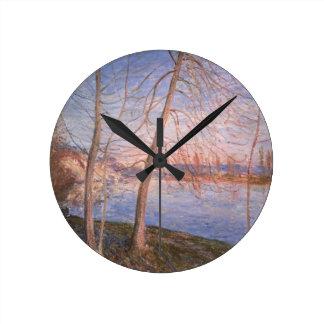 Matin d'hiver d'Alfred Sisley | Horloge Ronde