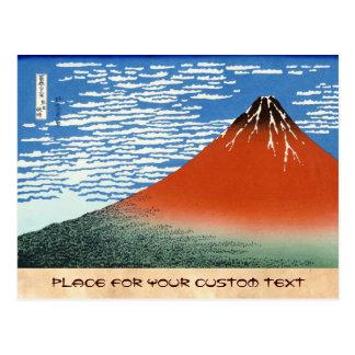 Matin du sud rouge d'espace libre de vent de Fuji Cartes Postales