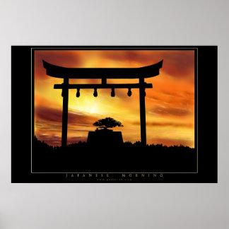 Matin japonais poster