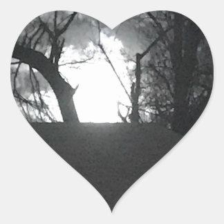 Matin mystérieux sticker cœur
