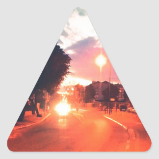 Matin orange sticker triangulaire