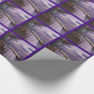 Matin sur la coutume de plate-forme papier cadeau noël