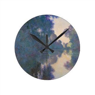 Matin sur la Seine près de Giverny - Claude Horloge Ronde