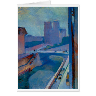 Matisse carte de salutation ou de note de Notre Da