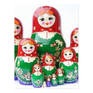 Matryoshka - матрёшка (poupées russes) carte postale