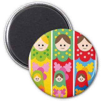 MatryoshkaBookmark Magnet Rond 8 Cm