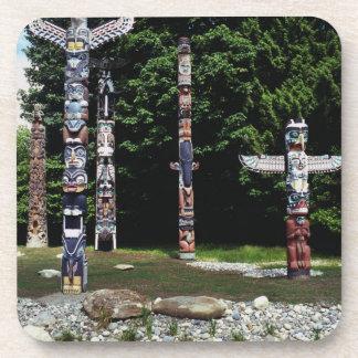Mâts totémiques, Vancouver, Colombie britannique Dessous-de-verre