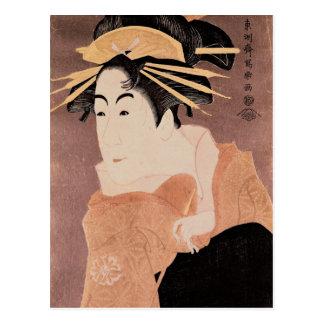 Matsumoto Yonesaburo dans le rôle de la courtisane Carte Postale