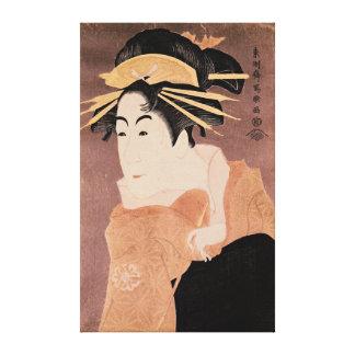 Matsumoto Yonesaburo dans le rôle de la courtisane Toiles