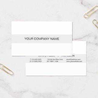 Matte blanche et grise professionnelle moderne cartes de visite