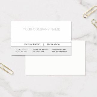 Matte blanche et grise professionnelle simple cartes de visite