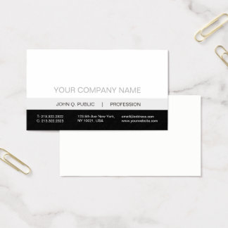 Matte grise blanche noire professionnelle moderne cartes de visite
