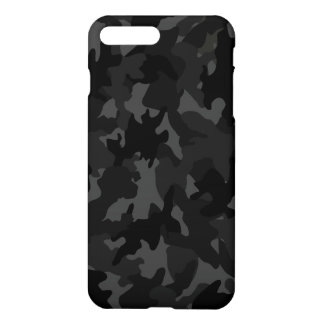 Matte grise noire faite sur commande de motif de coque iPhone 7 plus