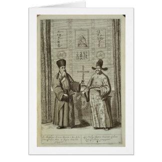 Matteo Ricci (1552-1610) et Paulus Li, de 'Chin Carte De Vœux