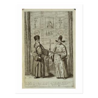 Matteo Ricci (1552-1610) et Paulus Li, de 'Chin Carte Postale