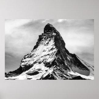 Matterhorn, Alpes noirs et blancs Posters