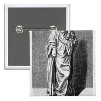 Matthew Paris, 1795 Badge Carré 5 Cm