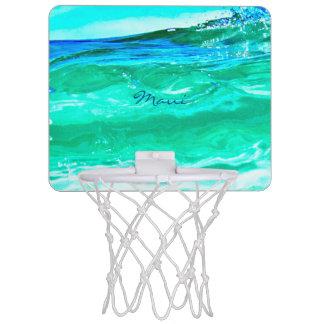 Maui bleu/vert ondule Thunder_Cove Mini-panier De Basket