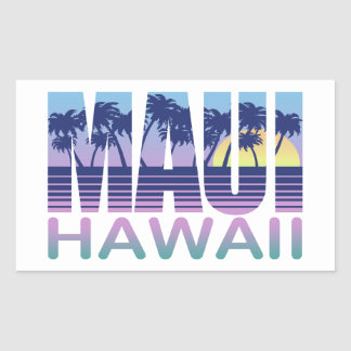 Maui Hawaï Sticker Rectangulaire