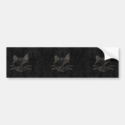 Mauvais adhésif pour pare-chocs gothique noir frai autocollants pour voiture