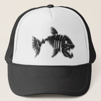Mauvais casquette de poissons d'attitude