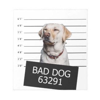 Mauvais chien blocs notes