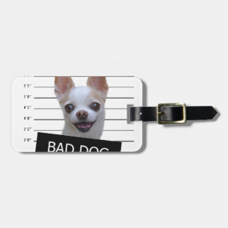 Mauvais chien - chiwawa étiquette à bagage