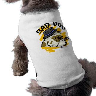 Mauvais chien t-shirt pour chien