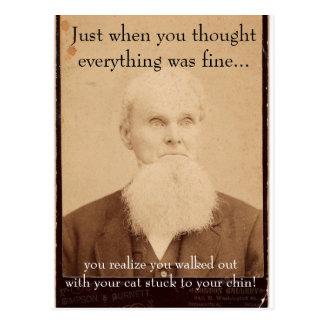 Mauvais jour de cheveux de vieil homme carte postale