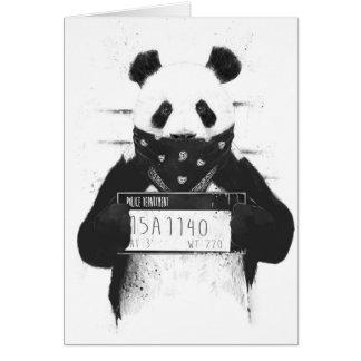 Mauvais panda carte de vœux
