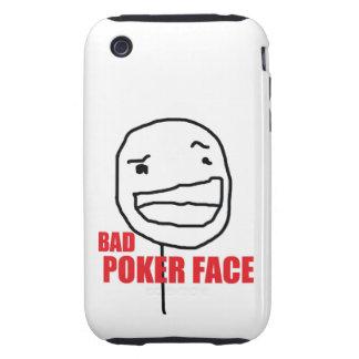 Mauvais visage de tisonnier coques tough iPhone 3