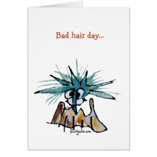 Mauvaise bande dessinée de coiffeur de bernache de cartes