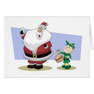 Mauvaise carte de Noël de l'année de Père Noël