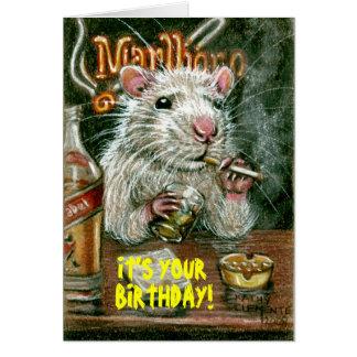 Mauvaises habitudes de rat fumant la carte potable