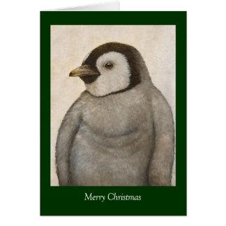 Maximum la carte de Noël de pingouin d'empereur de