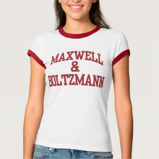 Maxwell et T-shirts de femmes de Boltzmann