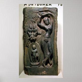 Maya de la Reine donnant naissance au futur Bouddh Affiches