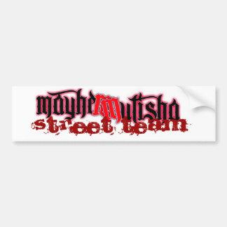 mayhem2, équipe de rue adhésif pour voiture