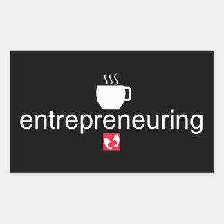 Mayniax stigmatisant le noir d'Entrepreneuring Sticker Rectangulaire