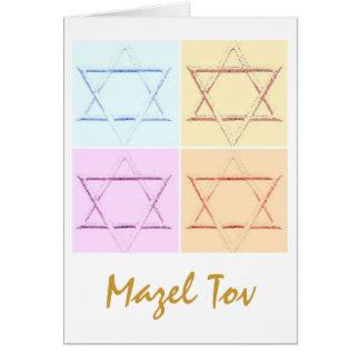 Mazel Tov/bonne chance Carte De Vœux