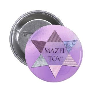 Mazel Tov ! Boutons Badge Rond 5 Cm