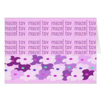 Mazel Tov (fleurs) Cartes