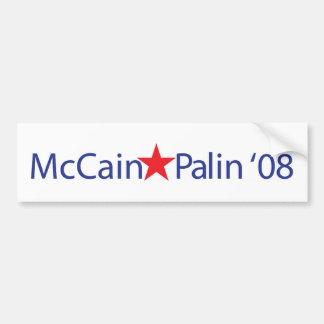 MCCAIN-PALIN '08 AUTOCOLLANT DE VOITURE