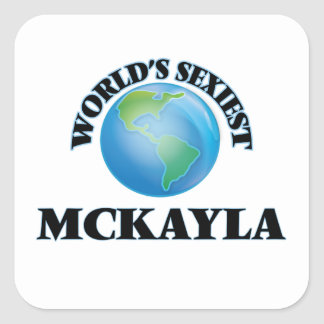 Mckayla le plus sexy du monde autocollants carrés